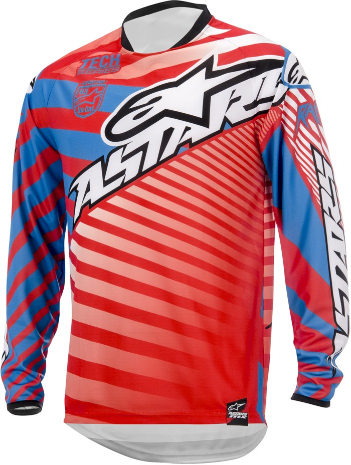 Alpinestars Racer Braap cross jersey Red Blue White