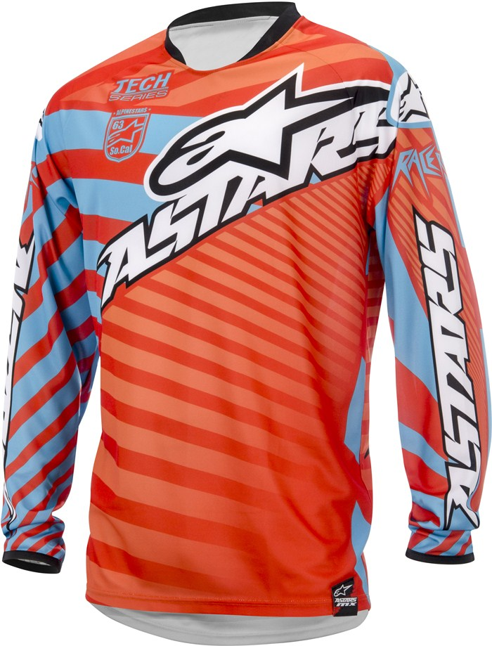 Alpinestars Racer Braap cross jersey Red Orange Blue