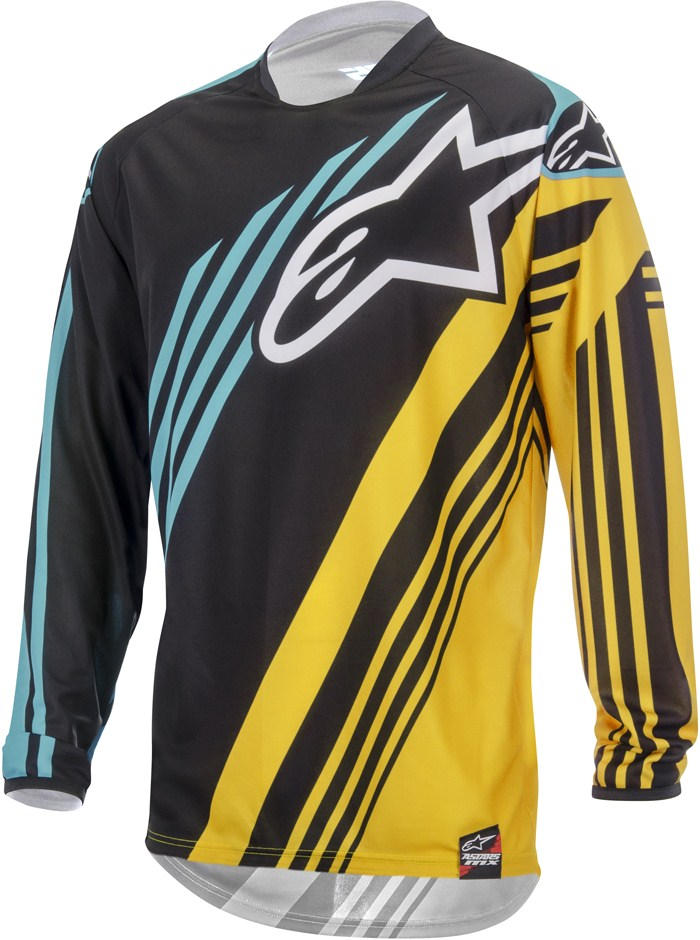 Alpinestars Racer Supermatic jersey cross Black Yellow Teal