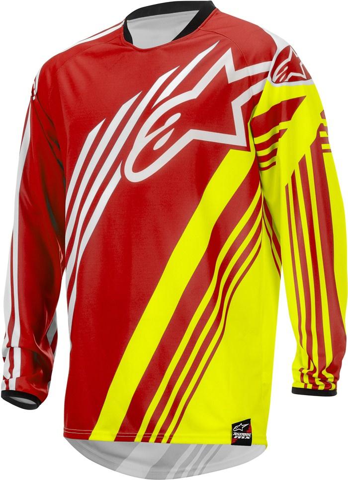 Alpinestars Racer Supermatic jersey cross Red Yellow White