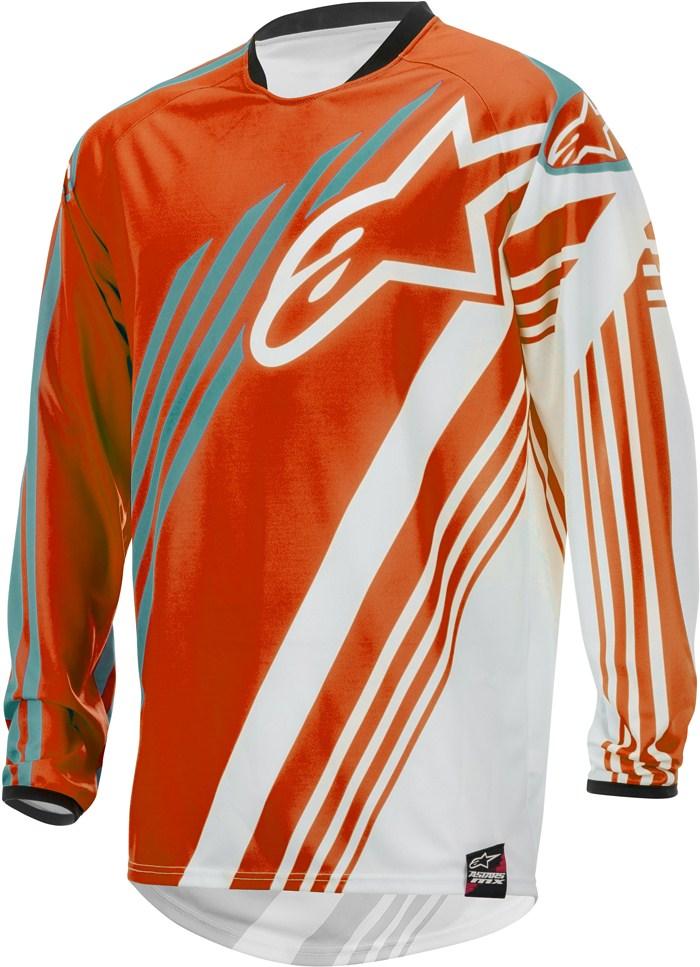 Alpinestars Racer Supermatic jersey cross Orange White Teal