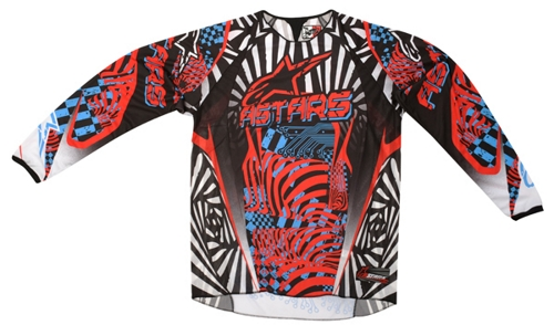Alpinestars Youth Charger off-road jersey red-cyan-black