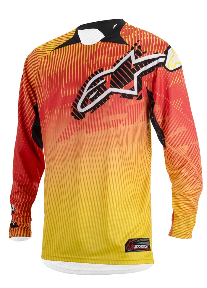 Jersey cross Alpinestars Charger Orange Red