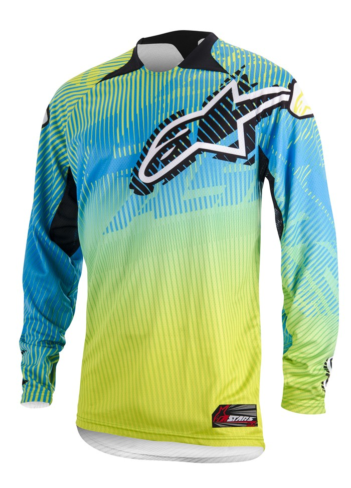 Jersey cross Alpinestars Charger Green Blue