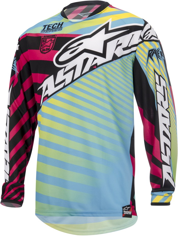 Alpinestars Youth Racer Braap cross jersey Yellow Cyan