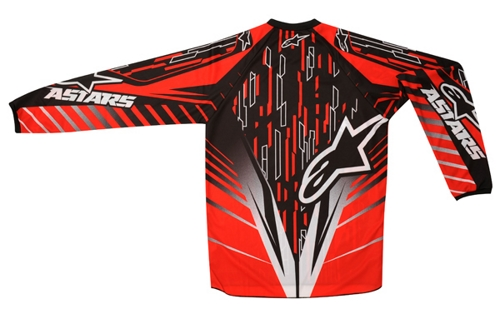 Alpinestars Youth Racer off-road jersey red-black-white