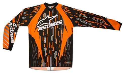 Alpinestars Youth Racer off-road jersey orange-black-white