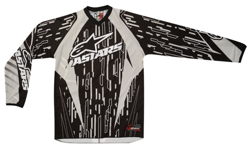 Alpinestars Youth Racer off-road jersey gray-black-white