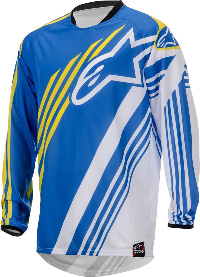 Alpinestars Youth Racer Supermatic cross jersey Blu White
