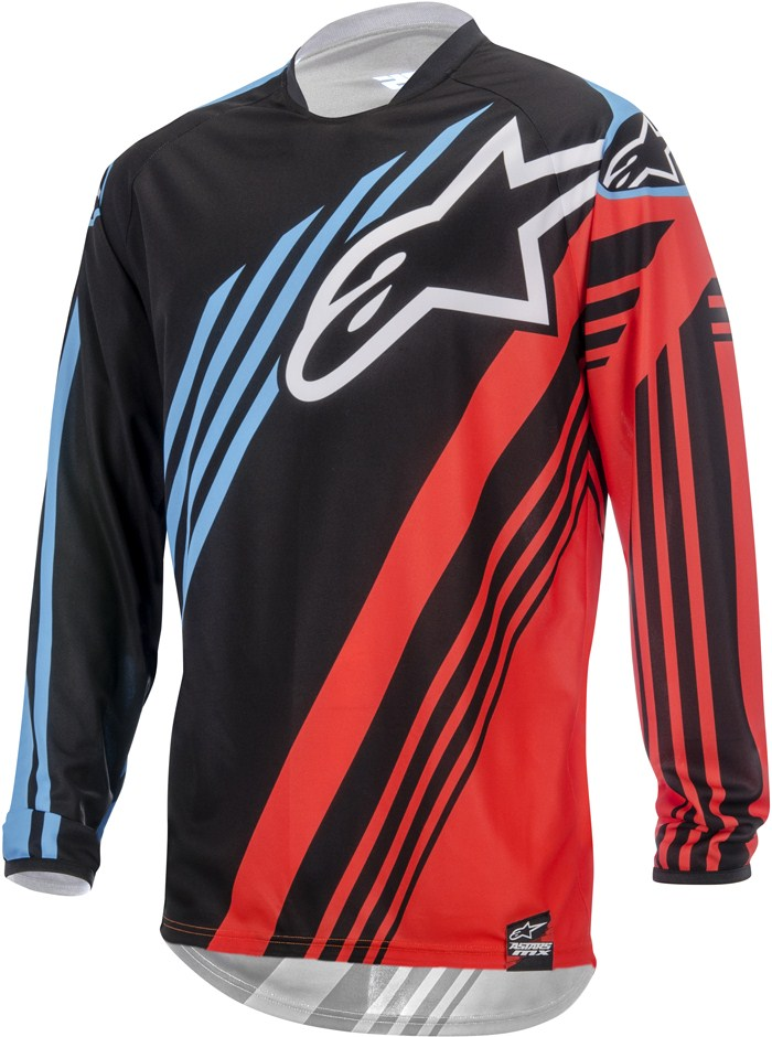 Alpinestars Youth Racer Supermatic cross jersey Black Red