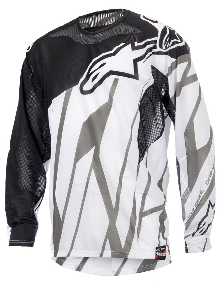 Alpinestars Techstar Vented cross jersey Black White Grey