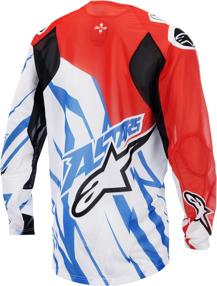 Alpinestars Techstar Vented cross jersey Red White Blue