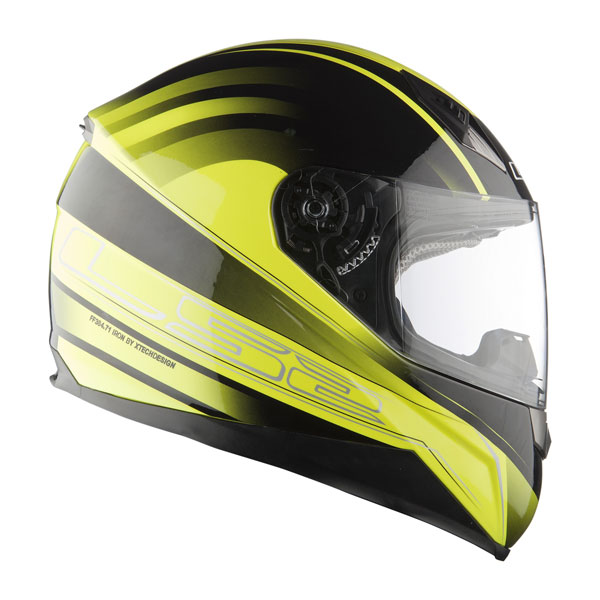 Motorcycle helmet LS2 FF384 Iron integral high visibility