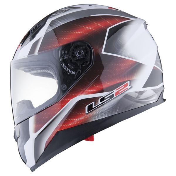 Motorcycle helmet full LS2 FF384 Saga White Red