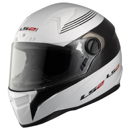 Casco moto integrale LS2 FF385 CR1 Pilot Bianco-Carbonio