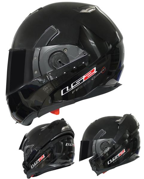 Modular helmet LS2 FF393 Convert Gloss Black