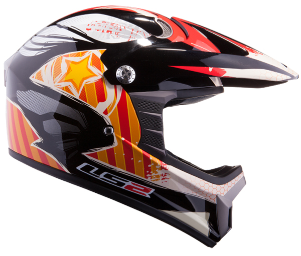 Cross helmet LS2 MX426 child Nasty Black Orange