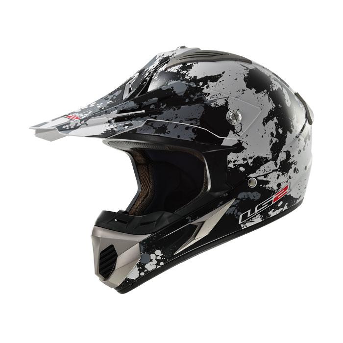 Cross helmet LS2 MX433 Blast White Black Titanium