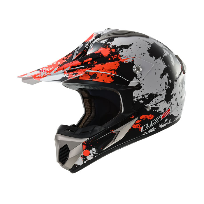 Cross helmet LS2 MX433 Blast White Black Orange