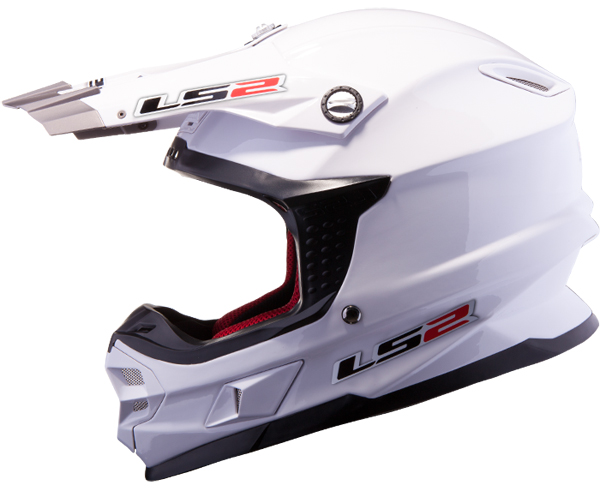 Casco cross LS2 MX456 Single Mono Bianco