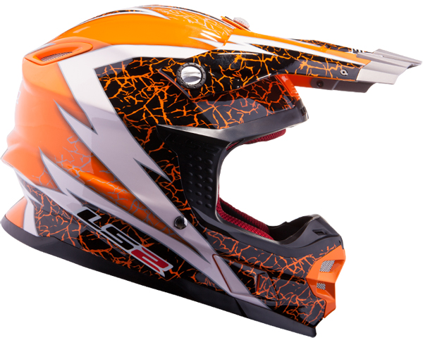 Casco cross LS2 MX456 Craze Arancio