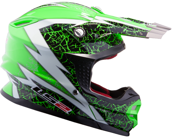 Casco cross LS2 MX456 Craze Verde