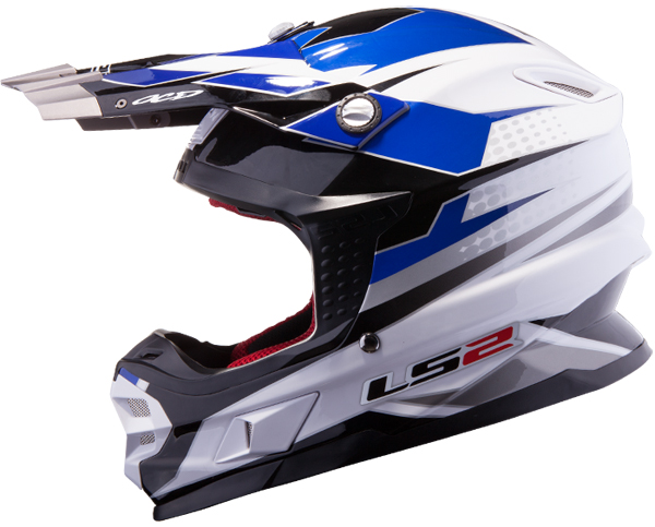 Cross helmet LS2 MX456 White Blue Factory