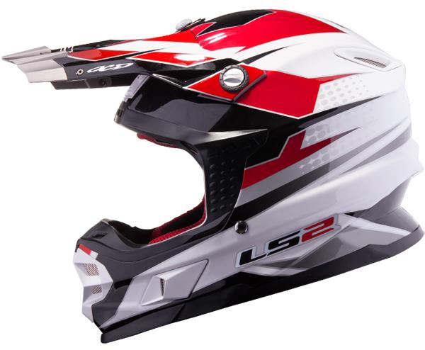 Cross helmet LS2 MX456 White Red Factory