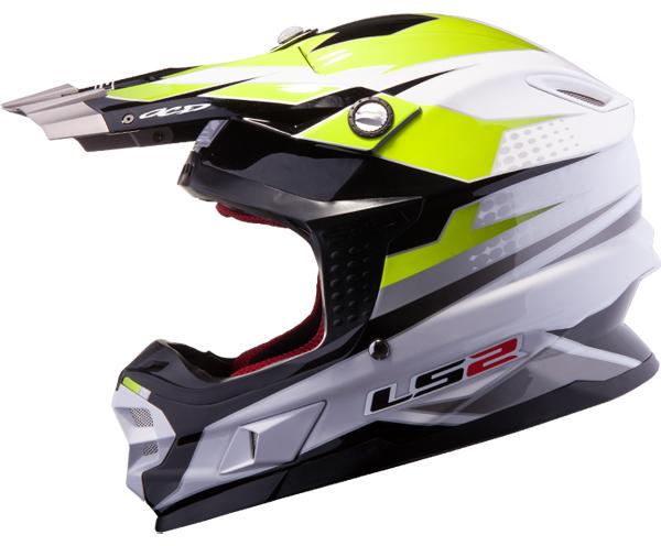 Cross helmet LS2 MX456 Factory White Yellow fluo