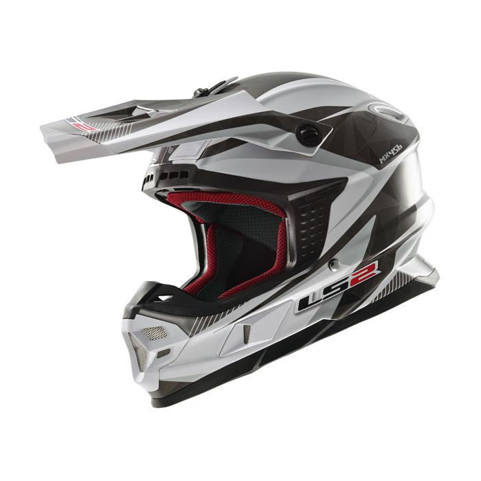 Ls2 MX456 Light Quartz cross helmet White Titanium