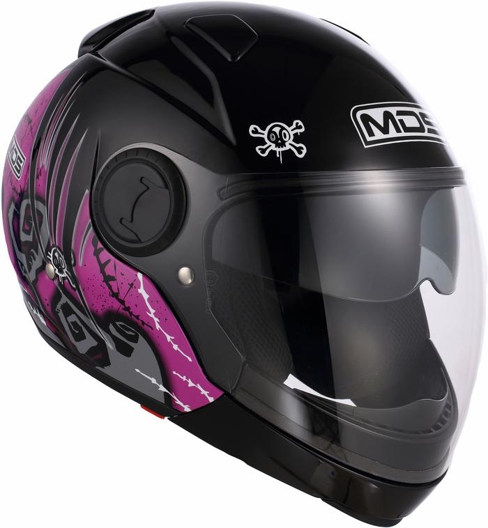 Casco moto Mds by Agv Sunjet Multi Tuft rosa