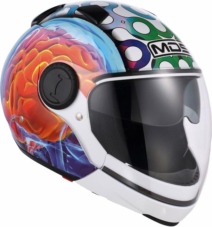 Casco moto Mds by Agv Sunjet Multi Brainstorm bianco
