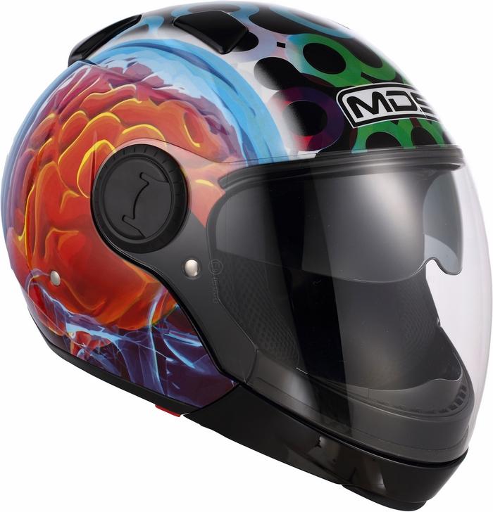 Casco moto Mds by Agv Sunjet Multi Brainstorm nero