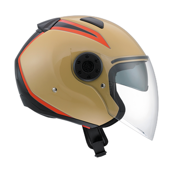 Diesel New Jack 70S flip off helmet Sandy Black Orange