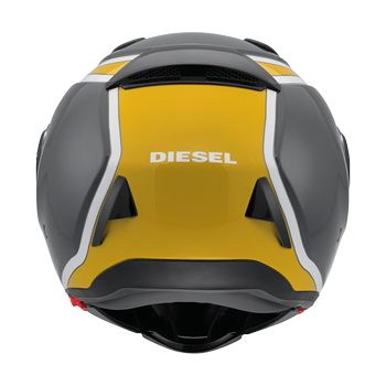 Diesel New Jack 70S flip off helmet Gunmetal Yellow White