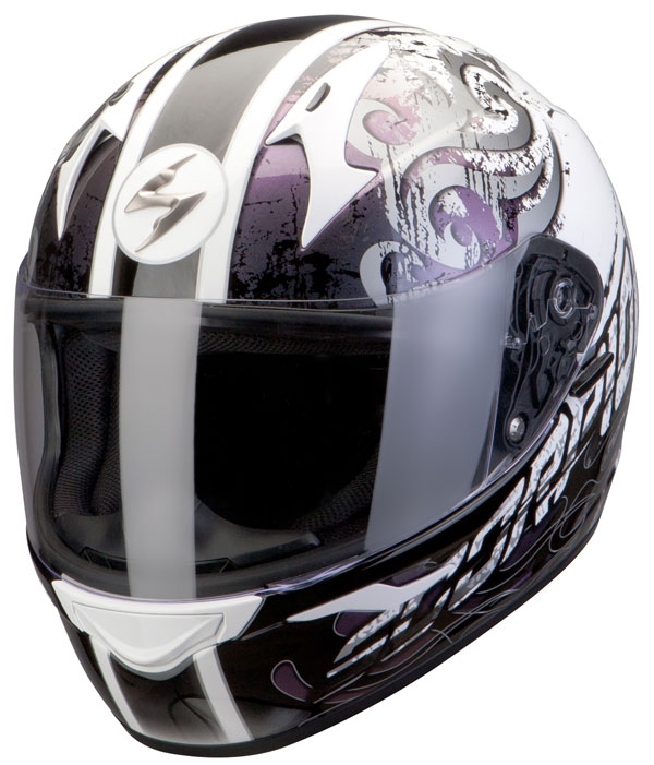 Scorpion Full Face Helmet Exo 410 Sprinter White Chameleon