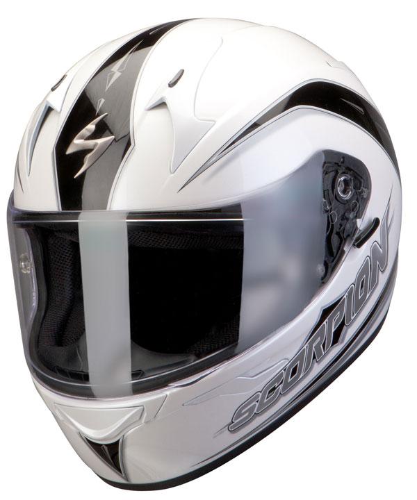 Casco integrale Scorpion Exo 410 Glide Bianco Nero