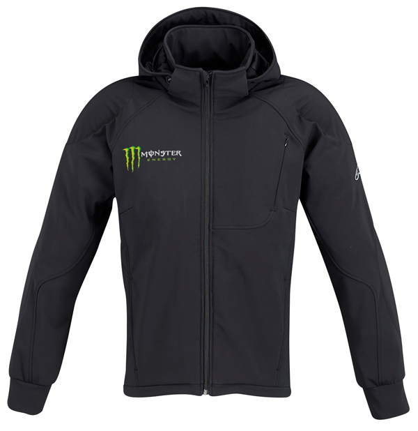 Giacca moto Alpinestars Cloak Monster Collection Energy nera