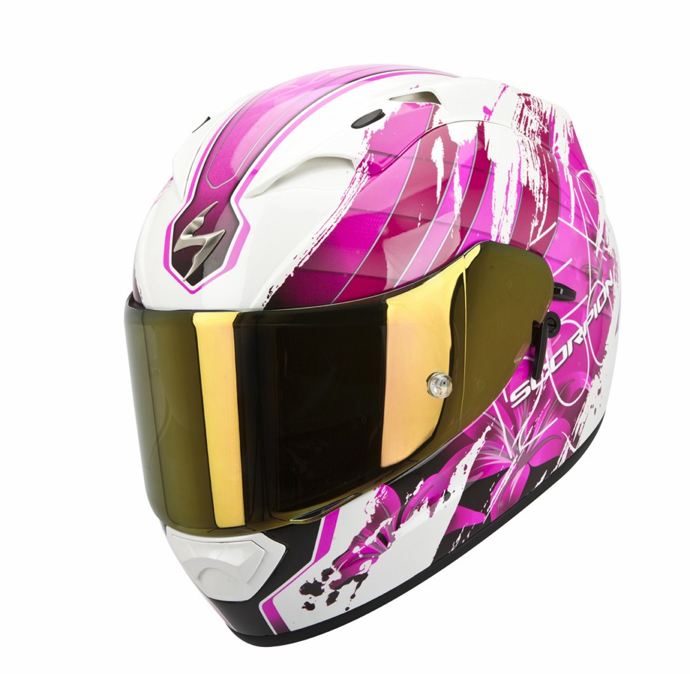 Scorpion Exo 1200 Air Lilium full face helmet white pink