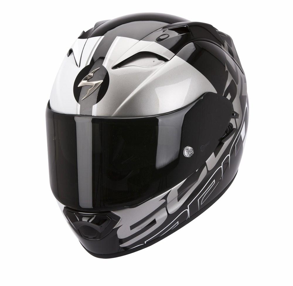 Scorpion Exo 1200 Air Quarterback full face helmet black silver
