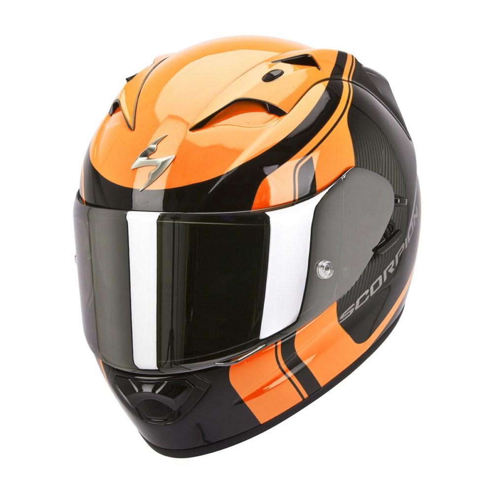 Scorpion Exo 1200 Air Stream Tour full face helmet black orange
