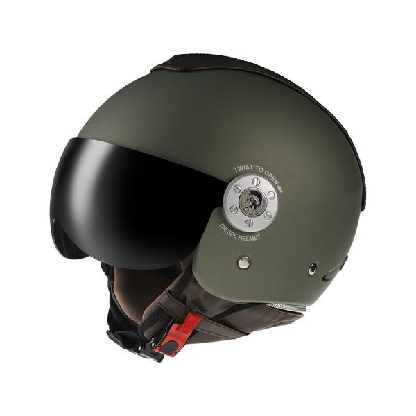 Diesel Mowie jet helmet matt green