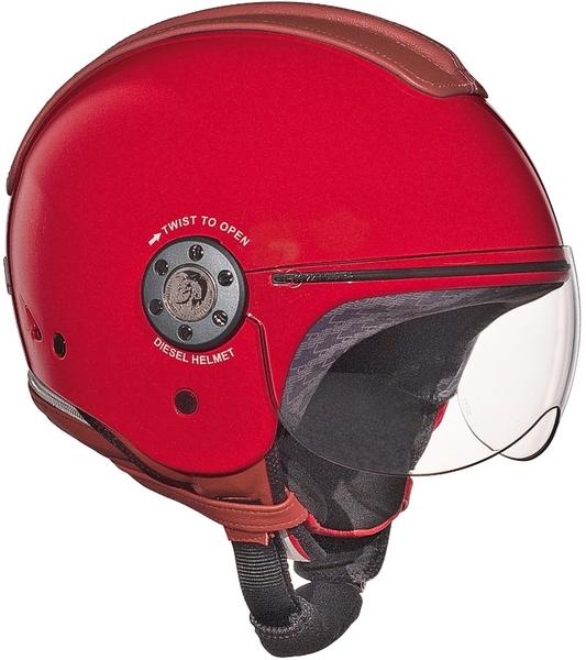 Casco moto Diesel Mowie Mono rosso