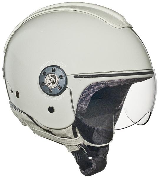 Casco moto Diesel Mowie Mono bianco-grigio