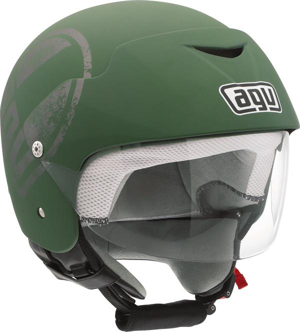 Agv Bali II Multi Glamour jet helmet matt green