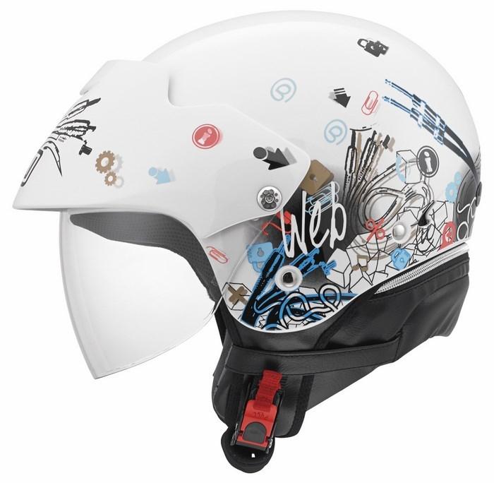 Casco moto Agv City Bali II Multi Web bianco