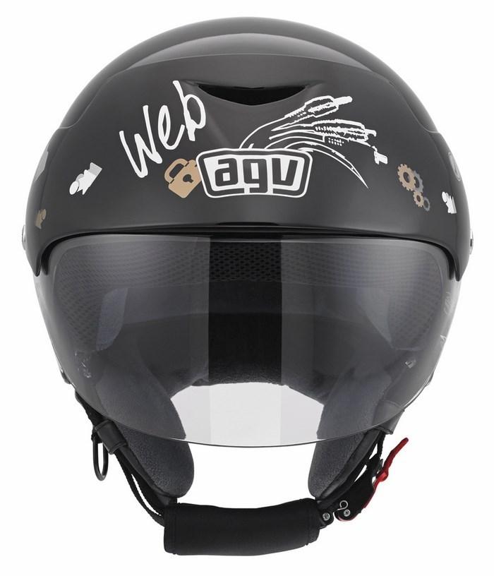 Casco moto Agv City Bali II Multi Web nero