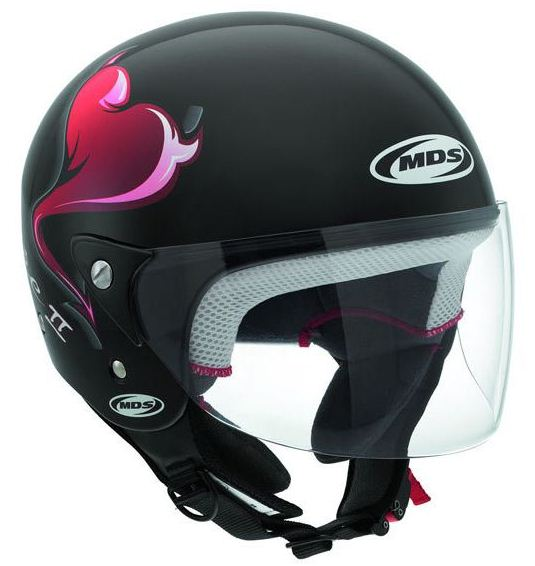 Casco moto Mds by Agv Free II Multi Heart nero