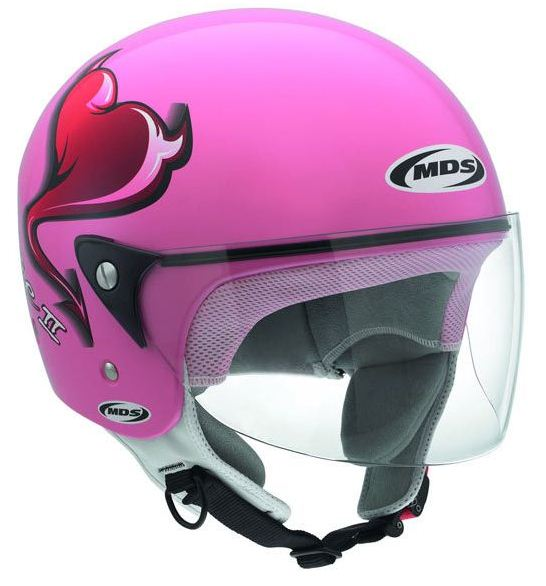 Casco moto Mds by Agv Free II Multi Heart rosa