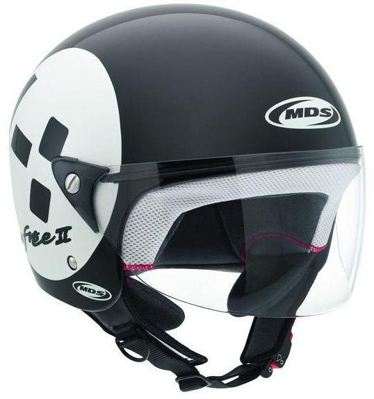 Casco moto Mds by Agv Free II Multi Emoticon nero-bianco